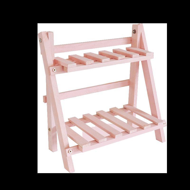 新款原木兩層小做舊落地陽台子多功能簡 雙十一