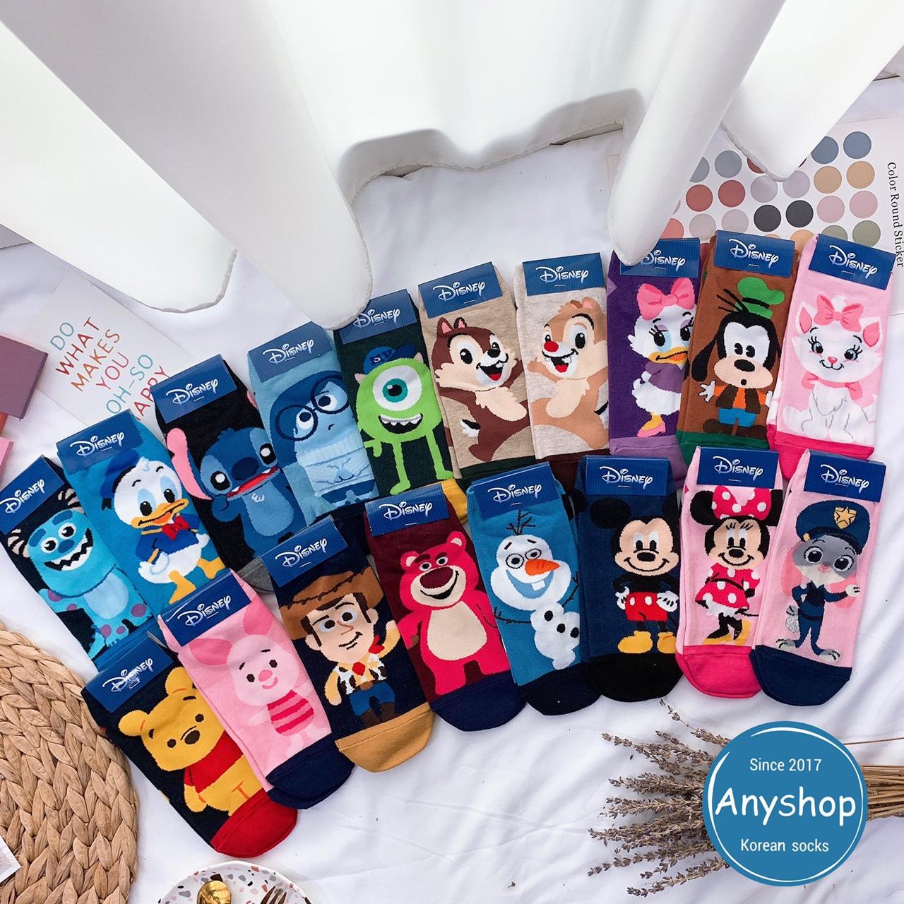 韓國襪-[Anyshop]迪士尼Q版角色短襪1