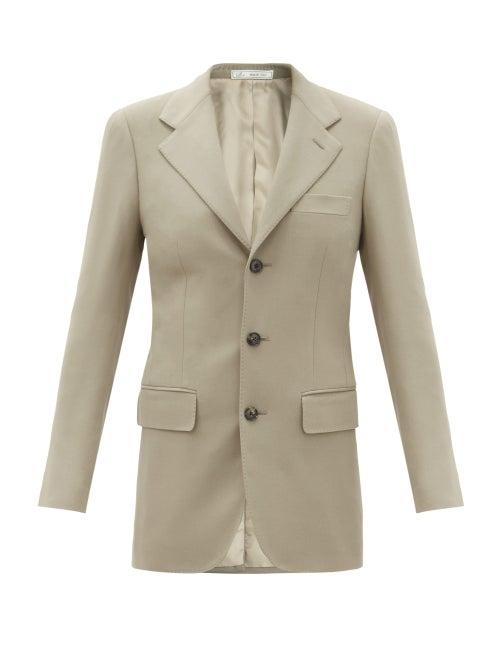 Umit Benan B+ - Single-breasted Wool-blend Jacket - Womens - Grey