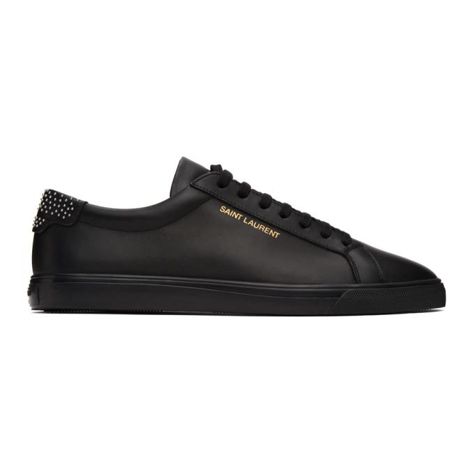 Saint Laurent 黑色 Andy Studded 运动鞋