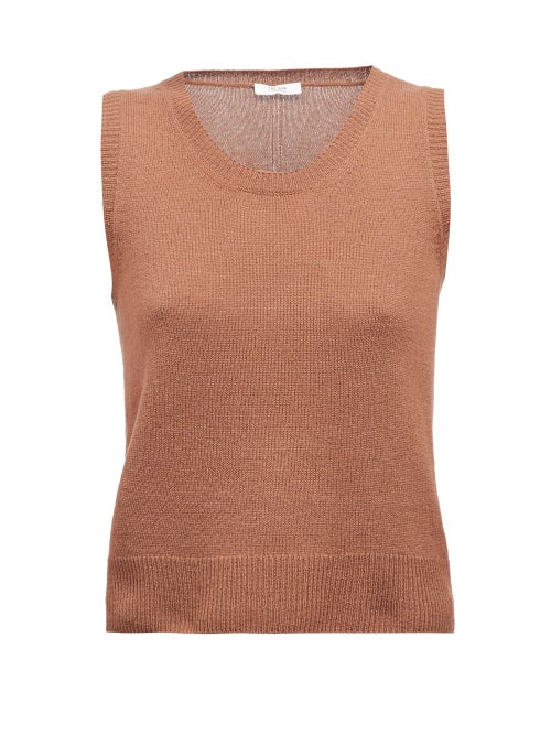 The Row - Amalia Round-neck Sleeveless Cashmere Sweater - Womens - Brown