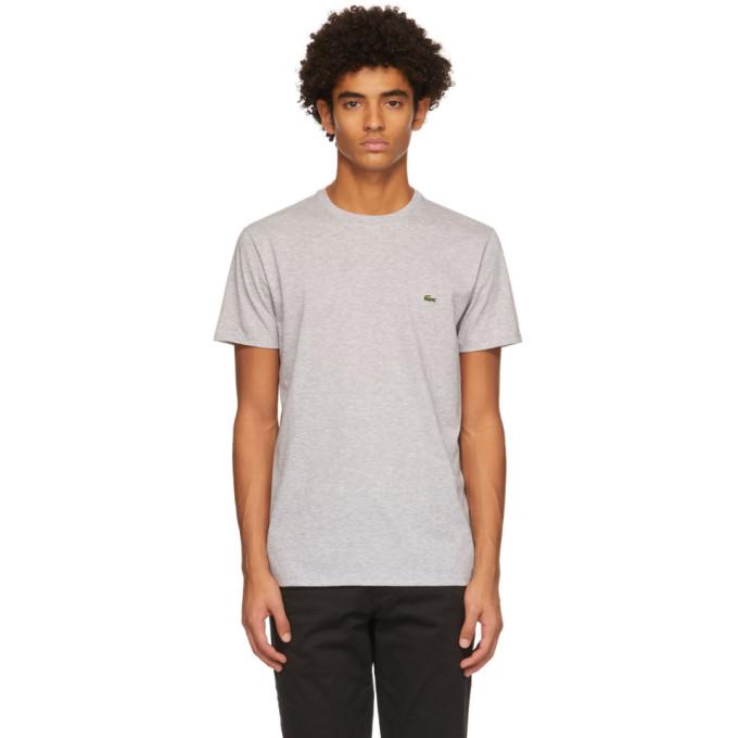 Lacoste 灰色徽标 T 恤