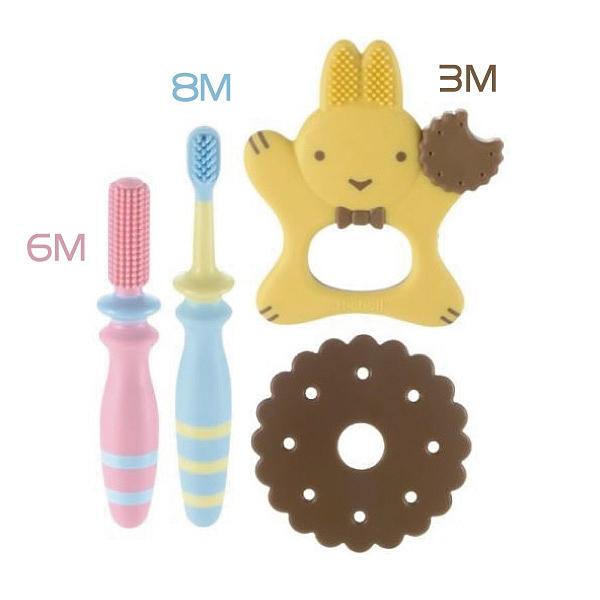 日本 Richell 利其爾 輔助型乳牙刷-3M/6M/8M【佳兒園婦幼館】