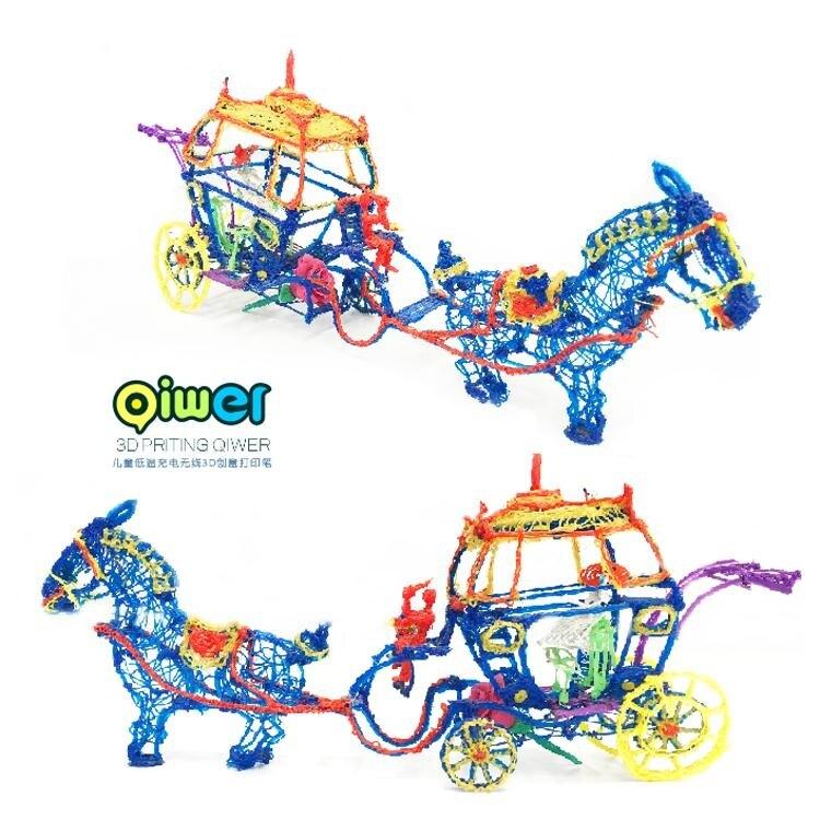 十代Qiwer啟物者兒童低溫充電無線3D列印筆塗鴉立體繪畫筆三D耗材 MBS