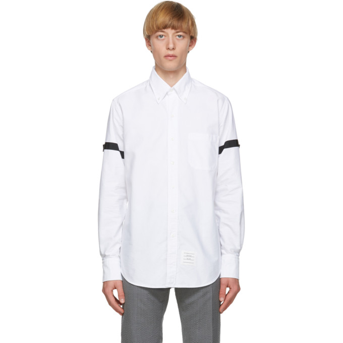 Thom Browne 白色 Armbands Classic 牛津纺衬衫