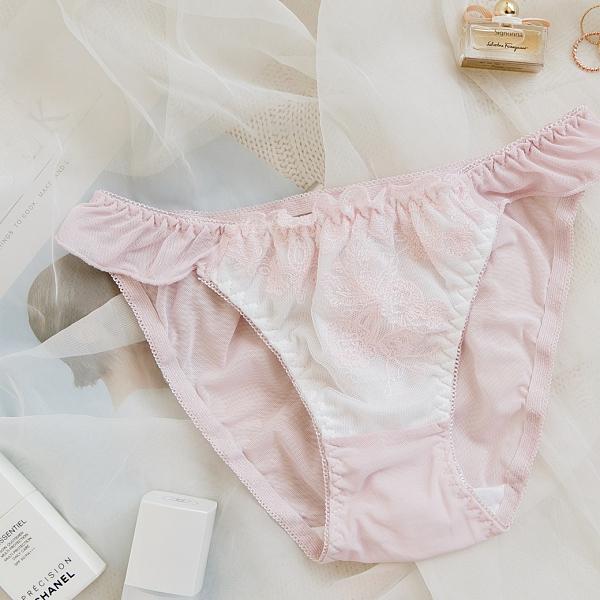 MUMU【B09186-2】凡爾賽少女。蕾絲花朵小褲。粉/綠