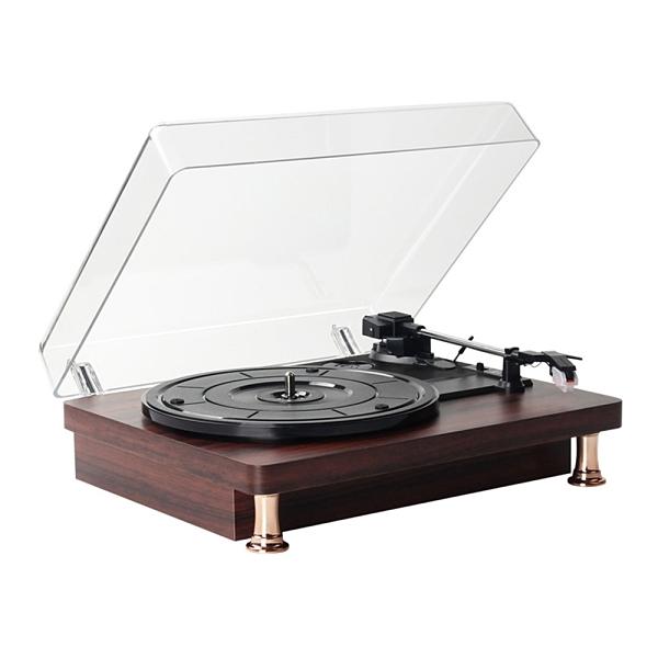 台灣現貨 老式復古黑膠唱片機客廳歐式lp留聲機便攜唱片機手提黑膠唱機現貨 新品