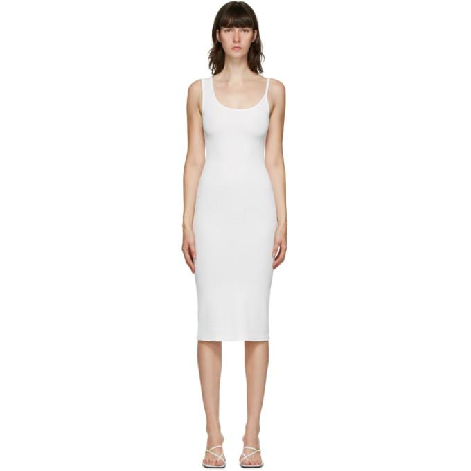 Christopher Esber SSENSE 独家发售白色不对称肩带连衣裙