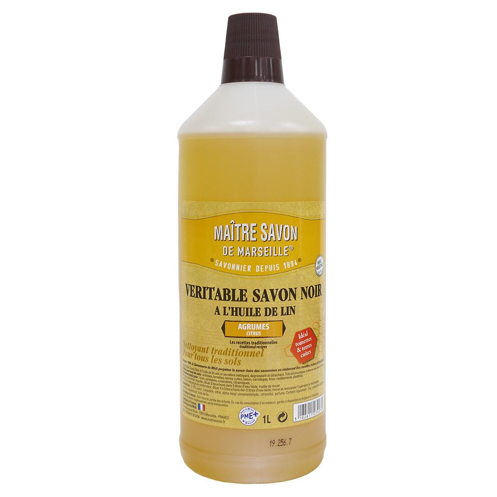 亞麻籽油黑肥皂多功能清潔劑-(柑橘香味) (1L/瓶)