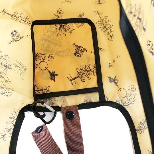 【領券折$30】小禮堂 迪士尼 小熊維尼 折疊尼龍環保購物袋 環保袋 側背袋 (黃黑 汽球)