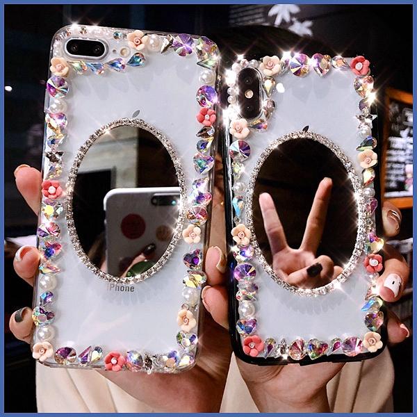 蘋果 iPhone12 12mini 12Pro Max iPhone11 SE2 XS IX XR i8+ i7 i6 小花邊框 手機殼 水鑽殼 訂製