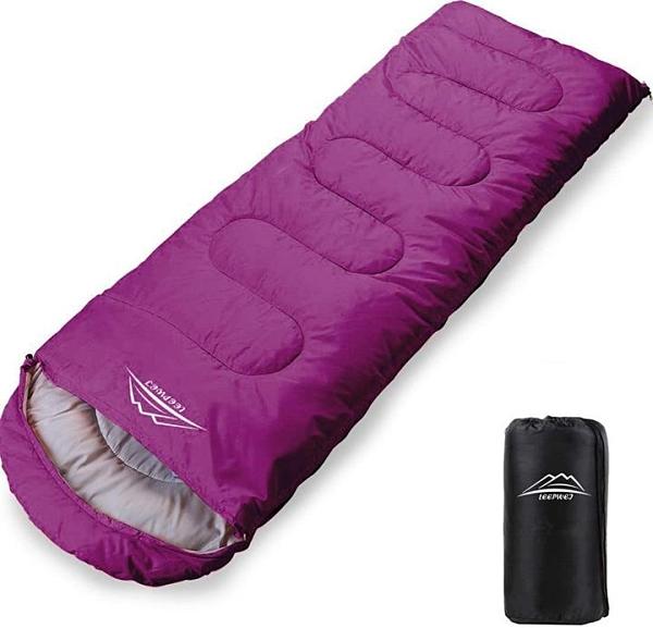 【日本代購】LEEPWEI 2020 新一代 睡袋 信封型 輕量 保溫 210T防水睡袋 小巧 戶外 露營 登山 四季可用