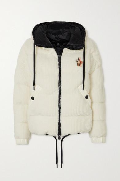 Moncler Grenoble - Maglia 绗缝罗纹抓绒羽绒滑雪夹克 - 白色 - x small