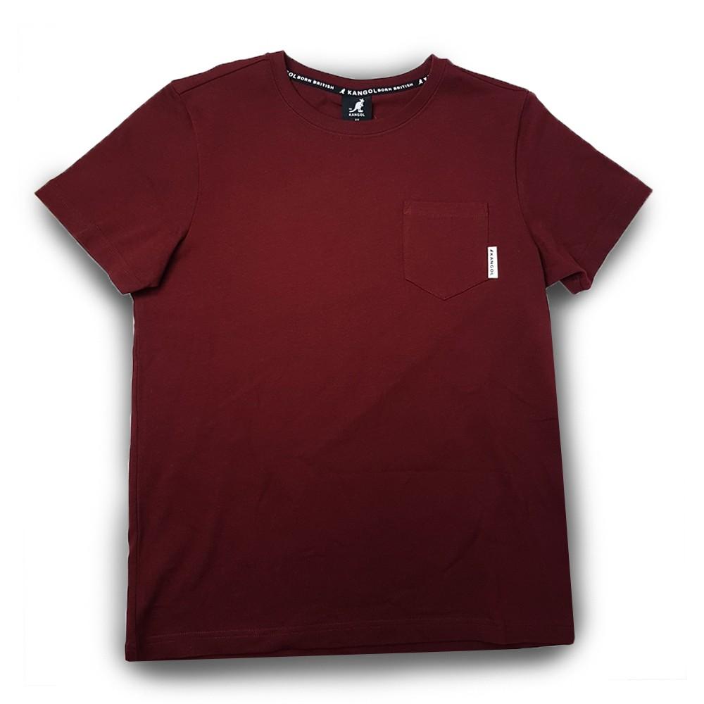 KANGOL 男款 酒紅色 短袖上衣 6021102540 Sneakers542