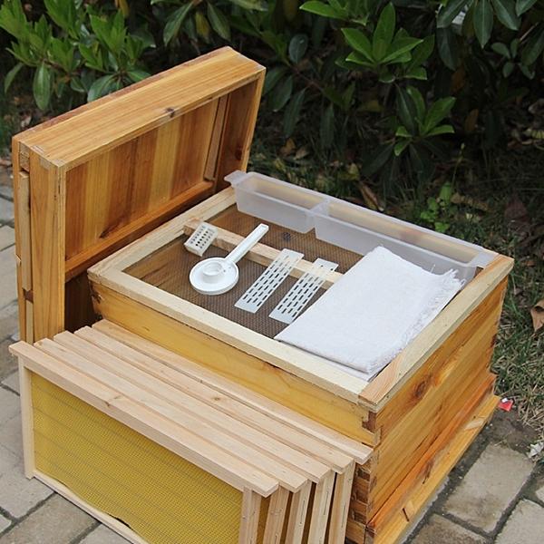 養蜂箱 蜜蜂箱全套中蜂帶框巢礎煮蠟蜂箱杉木成品巢框蜂巢蠟養蜂工具T