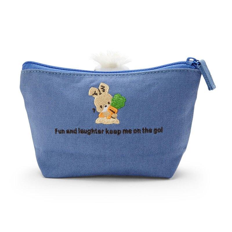 【領券折$30】小禮堂 帕恰狗 船形帆布化妝包 帆布收納包 小物包 (深藍 玩偶)