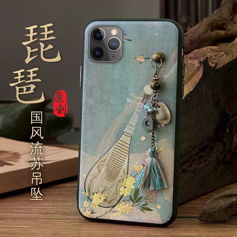 iphone11手機殼蘋果11pro中國風11promax復古x硅膠xs新款xr全包xsmax防摔6