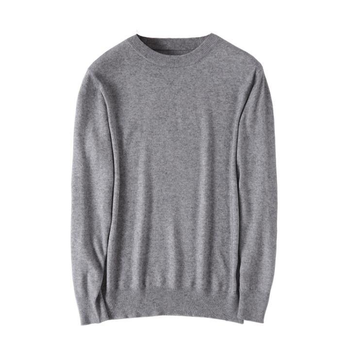 羊毛衫男式圓V領韓版潮流秋冬季寬鬆純色針織打底羊絨衫大碼毛衣