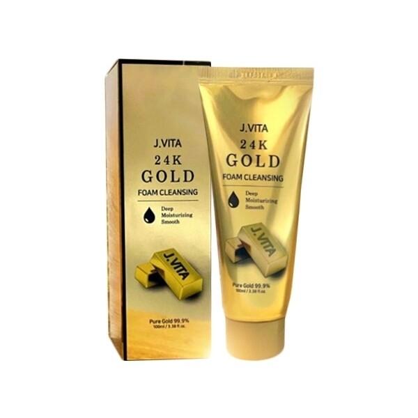 韓國 j.vita~24k 黃金洗面乳(100ml) 洗面乳/臉部清潔/潔顏