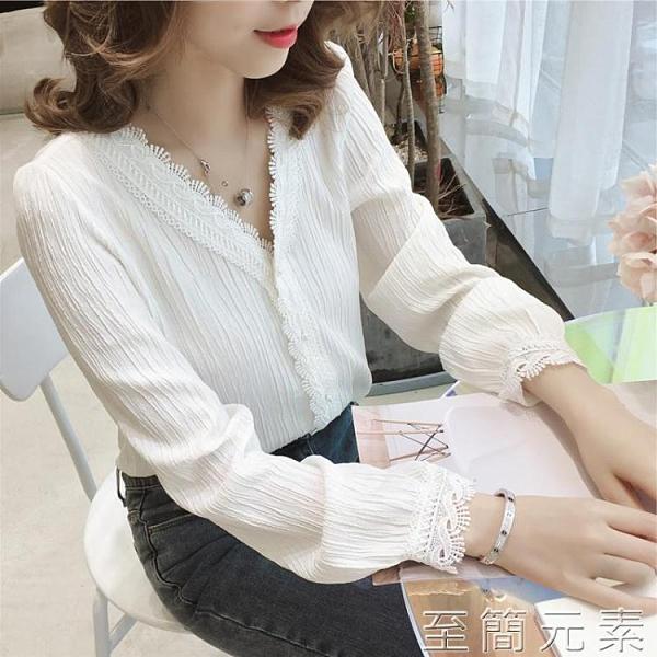 氣質雪紡衫OL襯衫女春季韓版設計感小眾上衣洋氣白色輕熟襯衣