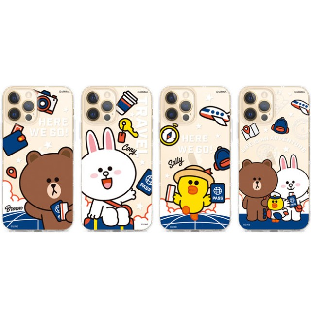 GARMMA LINE FRIENDS iPhone 12/12 Pro iPhone 12 mini iPhone 12 Pro Max 保護軟殼 旅行系列