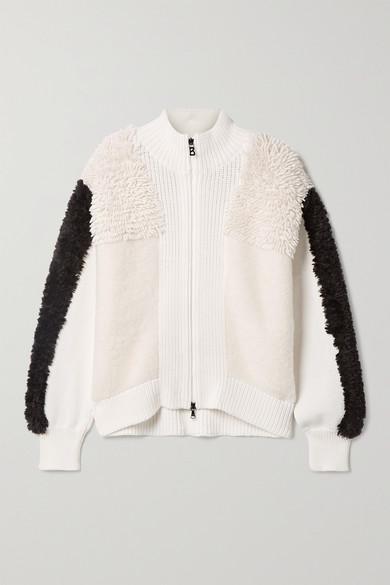 Bogner - Magalie 拼接羊毛混纺外套 - 奶油色 - FR38
