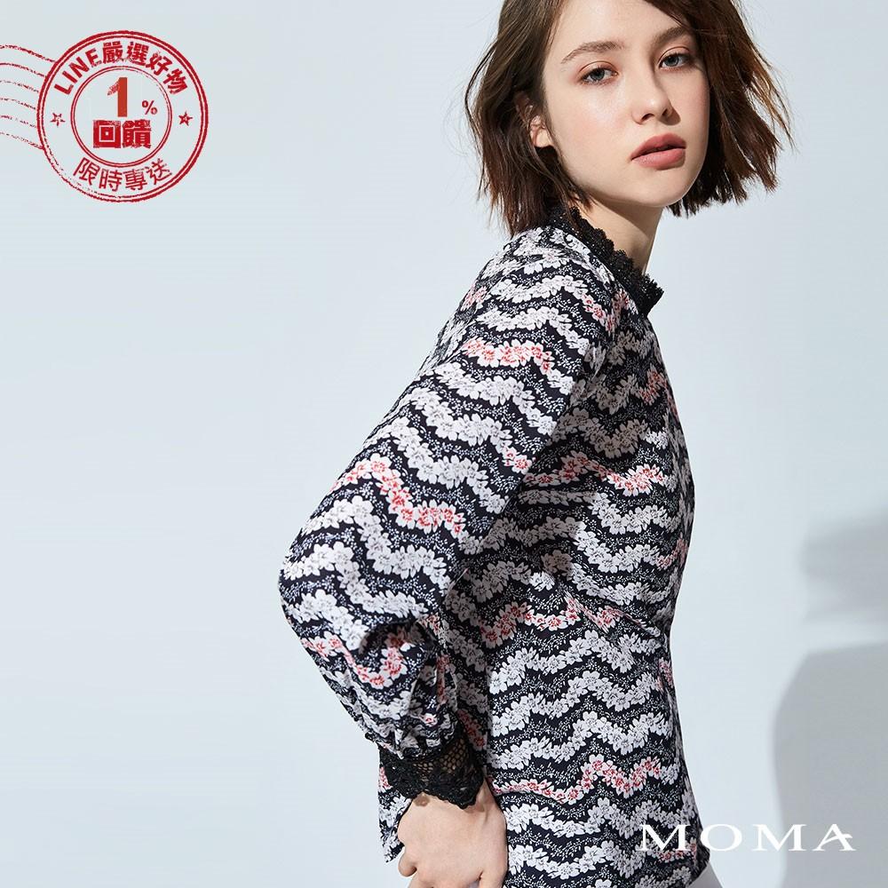 MOMA (92G001)波浪花卉平織上衣