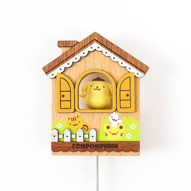 小禮堂 布丁狗 房屋造型磁鐵 木磁鐵 冰箱磁鐵 吸鐵 (黃棕)