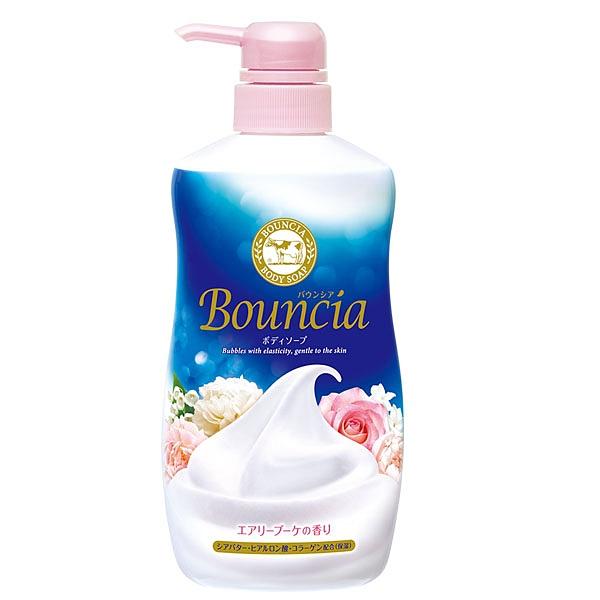 日本牛乳石鹼美肌保濕沐浴乳(藍粉-愉悅花香) 500ML