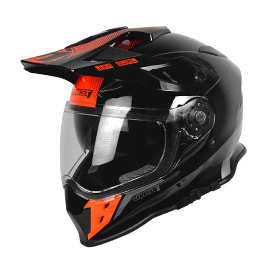 【Just1】J34 入門 多功能越野帽 鳥帽 輕量透氣 內襯全可拆 內墨片 KTM BMW 霓虹紅