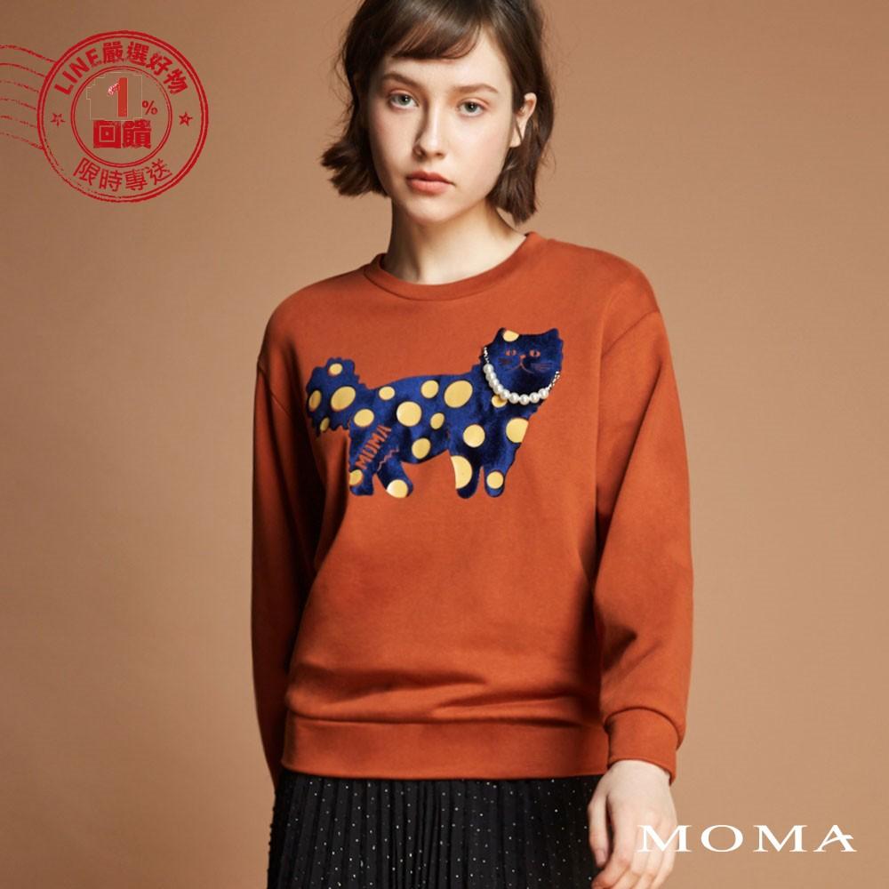 MOMA(92M059)植絨貓咪圖案上衣