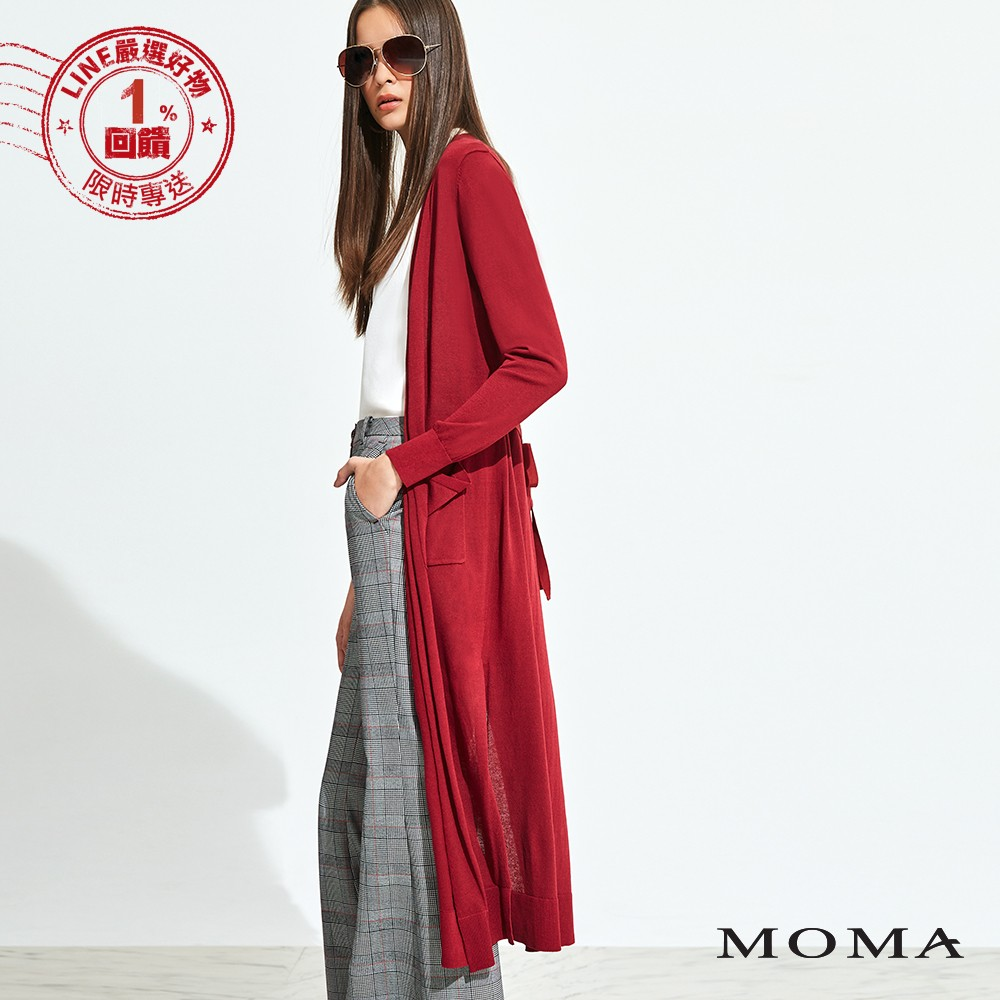 MOMA(92KJ16)長版垂墜針織外套