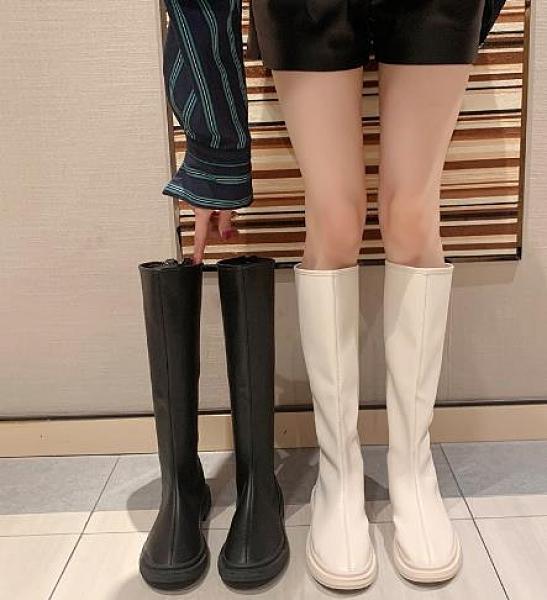 長靴 不過膝長筒靴女新款騎士靴子ins潮百搭網紅高筒長靴春秋單靴 維多原創