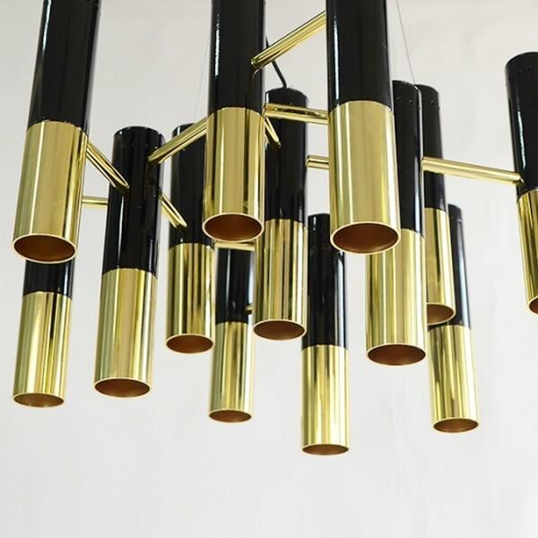 18park-黑金音色吊燈-13燈/19燈 [不含燈泡,黑+金,全電壓,19燈]