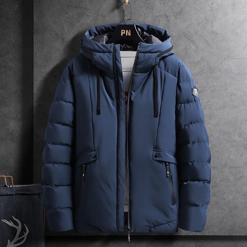【M-4XL】冬季高品質厚外套男 韓版加棉加厚防風棉質外套 保暖短版棉衣 棉服 鋪棉夾克 大尺碼工裝連帽外套 男生衣著
