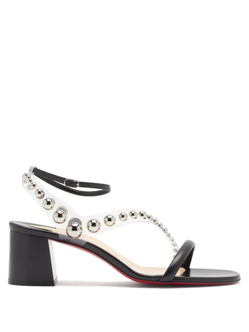 Christian Louboutin - Corinne 55 Pvc-strap Leather Sandals - Womens - Black