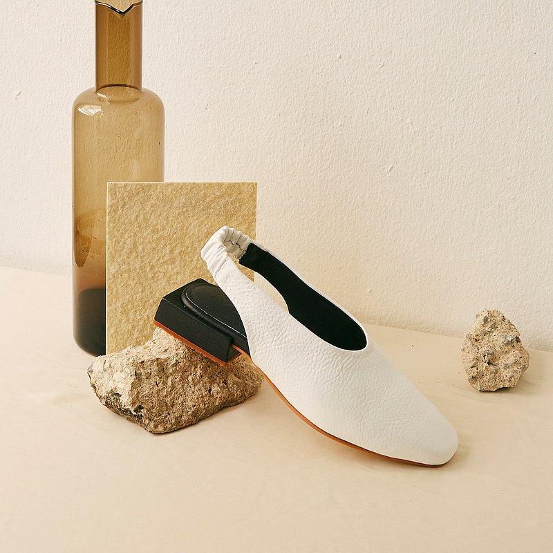 WHITE - ONIONS Slingback Shoes