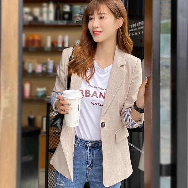 西裝外套網紅灰色小西裝外套女春秋上衣韓版女士西服英倫風設計感小眾 雙12全館免運