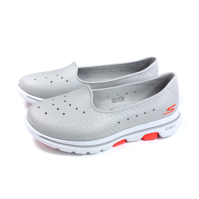 SKECHERS CALI GEAR 懶人鞋 防水 女鞋 淺灰色 111105WGRY no153