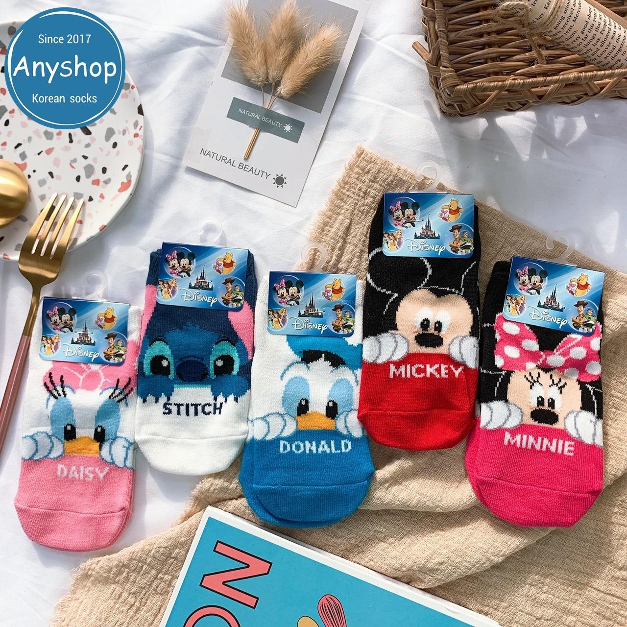 韓國襪-[Anyshop]迪士尼經典人物兒童襪