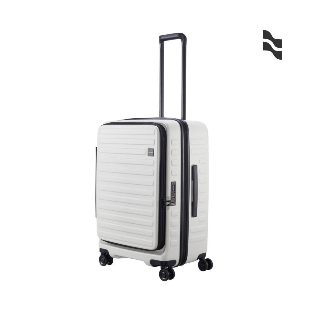 LOJEL CUBO 26吋行李箱 象牙白 上掀式擴充行李箱【旅遊補給】旅行箱 商務箱 行李箱
