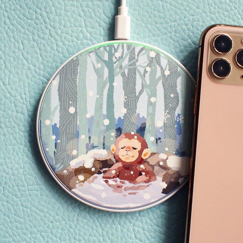 雪猴泡溫泉- 無線充電器 Qi Wireless Charger