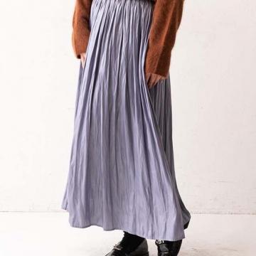 Lui's - 緞面皺褶感長裙