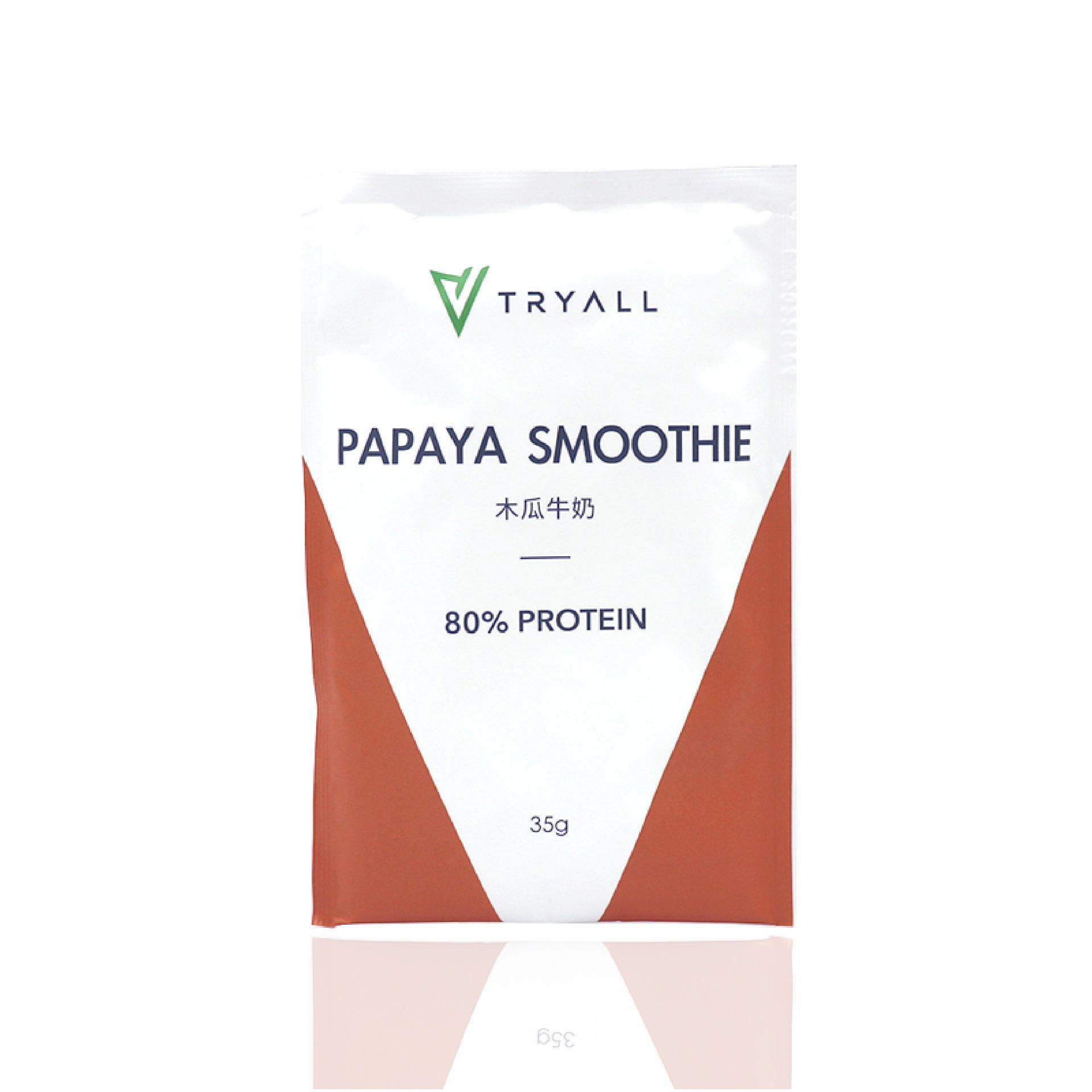 [台灣 Tryall] 全分離乳清蛋白 (35g/包) 木瓜牛奶