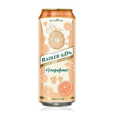 德國 Radler 0.0% 萊德無酒精啤酒風味飲-葡萄柚(500ml)