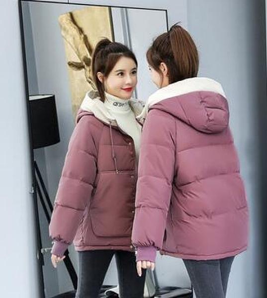 羽絨棉服麵包服大碼女裝棉衣短款保暖外套加厚款韓版棉襖