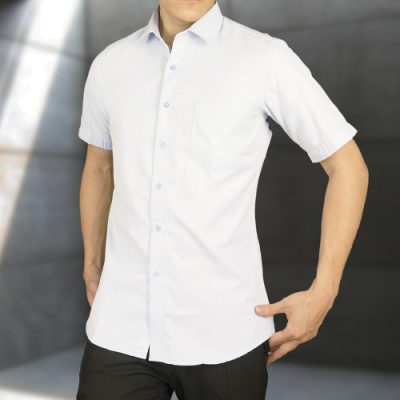 【WEISHTON】韓版修身抗皺商務襯衫-短袖