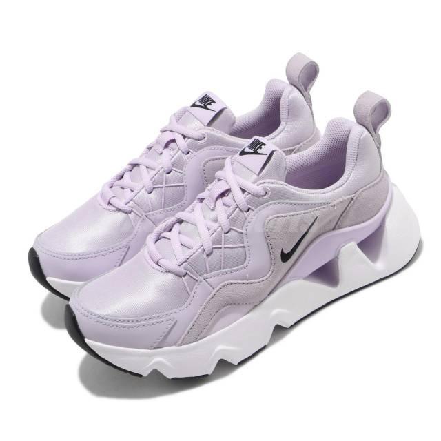 樂天雙11購物節整點特賣5折起 11/5 10:00 開賣【NIKE】 RYZ 365 紫色 麂皮 拼接 鏤空 緞面 增高 女神鞋  BQ4153-500 (palace store)