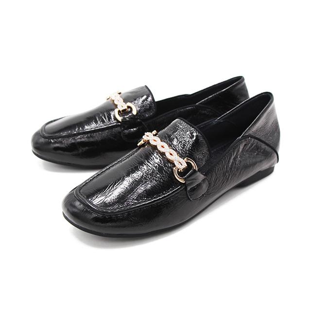 W&M(女)方頭金屬感內增高莫卡辛鞋 樂福鞋 女鞋-黑(另有銅金色)