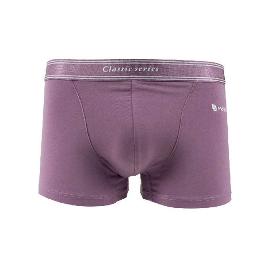 Olivia【男士系列】透氣彈性冷灰調四角內褲-淺紫